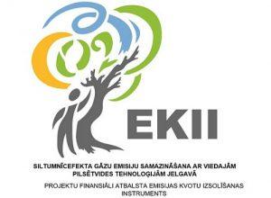 EKII logo, Siltumnīcefekta gāzu emisiju samazināšana ar viedajām pilsētvides tehnoloģijām Jelgavā
