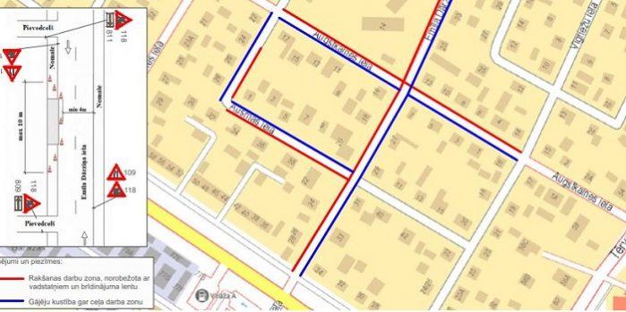 Apgaismojuma izbūves shēma Augstkalnes ielā, Emīla Dārziņa ielā un Ausmas ielā