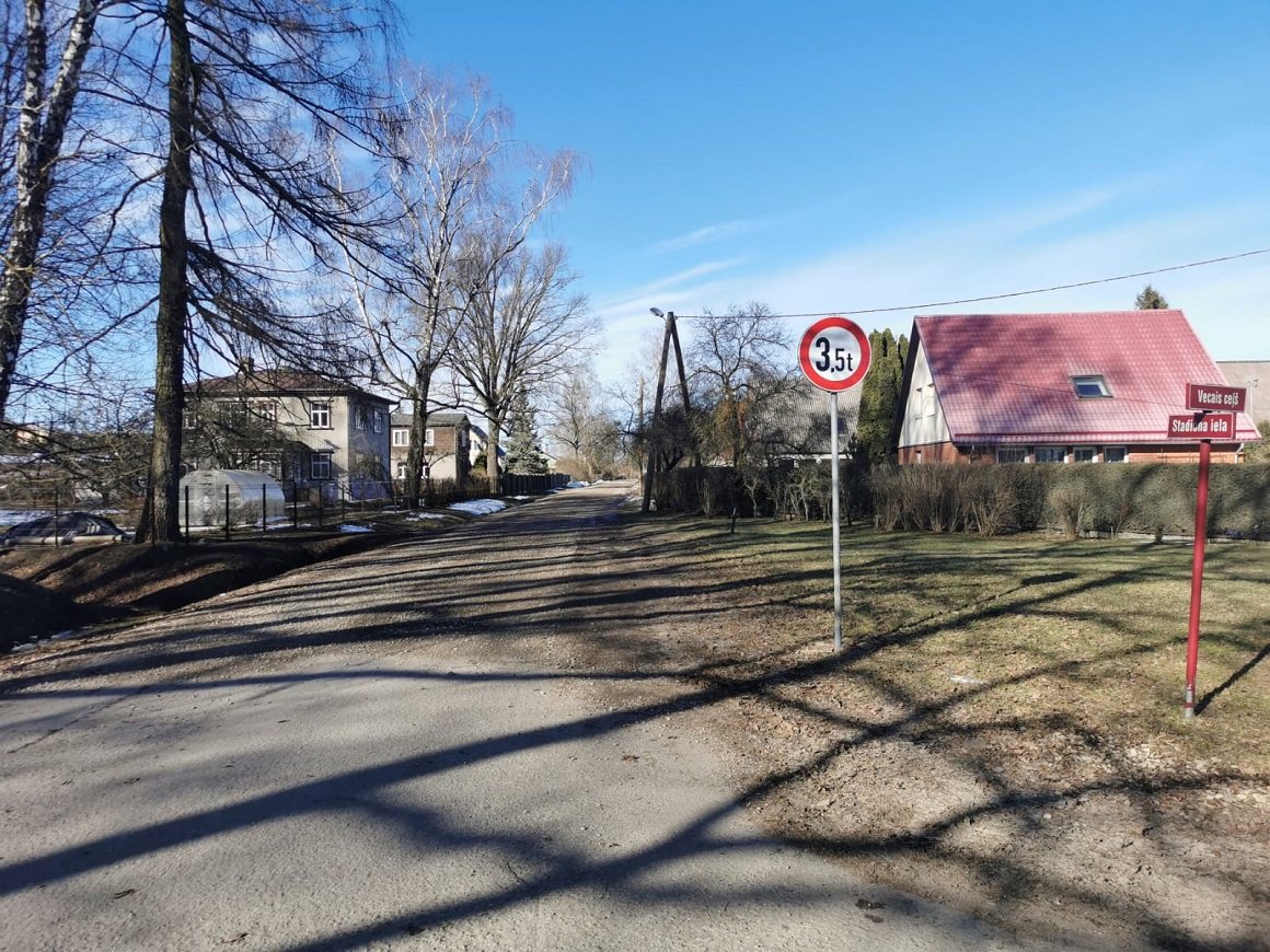 Stadiona ielas un Vecā ceļa krustojums