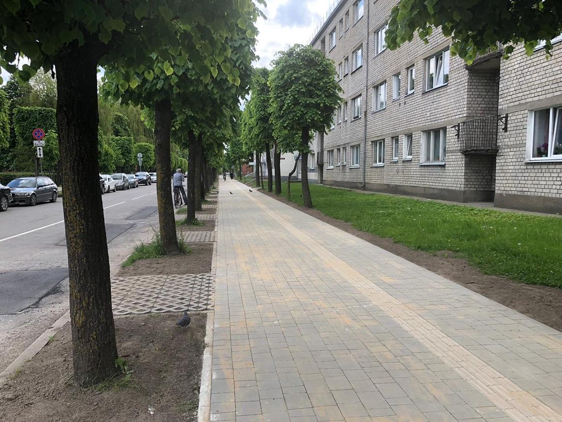 Izbūvēta Katoļu ielas ietve, posmā no Driksas ielas līdz Raiņa ielai